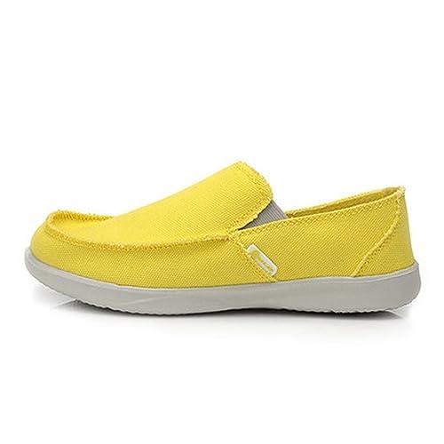 Hombres Lona Zapatos Moda Verano Transpirable Zapatos Casuales Hombres Zapatos Mocasines CóModos Zapatos Perezosos Pisos: Amazon.es: Zapatos y complementos