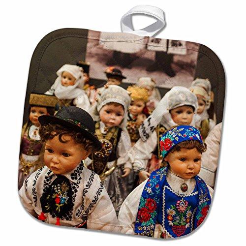 Bath Museum Of Costume (3dRose Danita Delimont - Museums - Romania, Transylvania, Sibiu, Church Museum, dolls in ethnic costumes - 8x8 Potholder (phl_227893_1))