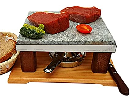 Piedra para Asar Carne de 20x20 Modelo Bicolor con un Quemador de ...