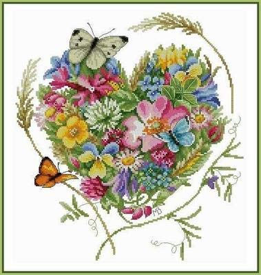 Zamtac Needlework 14CT 16CT 18CT Cross Stitch, DIY Count Cross Stitch, Embroidery Set, Heart of Pansies - (Cross Stitch Fabric CT Number: 14CT unprinted) (Count Cross Stitch Pansy)