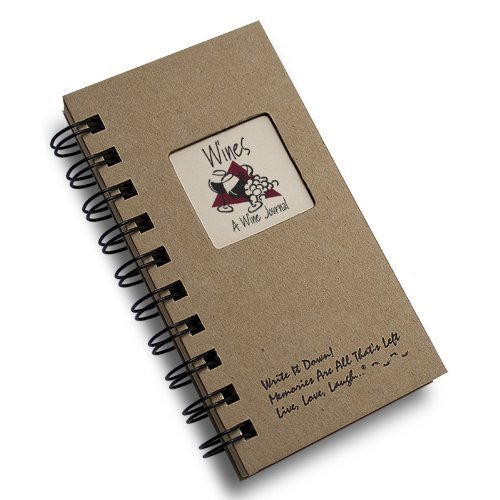 Price comparison product image 1 X Wine,  A Wine Journal - MINI Natural Kraft Brown Hard Cover (prompts on every page,  recycled paper,  read more...)