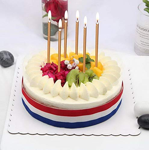 Mikash 24 Count Birthday Candles Bulk for Christmas Party Cakes Champagne Gold 5.6inch Long Thin Celebration Candles Luxurious Birthday Wedding Cupcake Sparklers Tion     Model WDDNG - 958