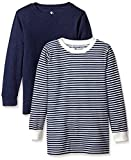 American Hawk Little Boys' 2 Pack: Long Sleeve Thermal Tops, Navy//Natural, 7