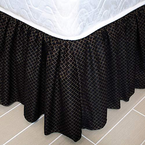 Austin Horn Classics Lismore Black Luxury Bed Skirt (Queen) (Austin Bedskirt)