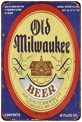 Custom Kraze 1934 Old Milwaukee Beer Reproduction Metal Sign 8 x 12