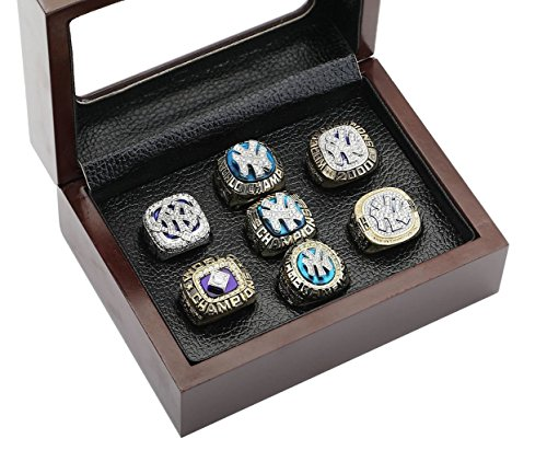 NY Yankees Championship Rings Set & Display Case