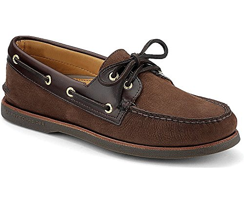 Sperry Topsider Mens Gold Cup Authentic Original 2-Eye Brown/Buc Brown Boat Shoe - 12 M