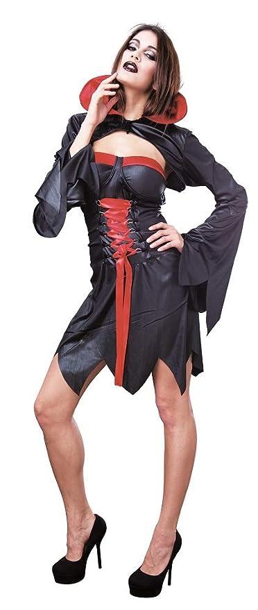 Giocoplast Costume Diavolo Nero Black Devil DIAVOLESSA Donna per  Travestimenti di Halloween (Taglia L) 2e815b06ce20