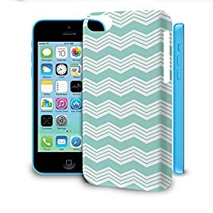 Phone Case For Apple iPhone 5C - Chevron Mint Lightweight Wrap-Around