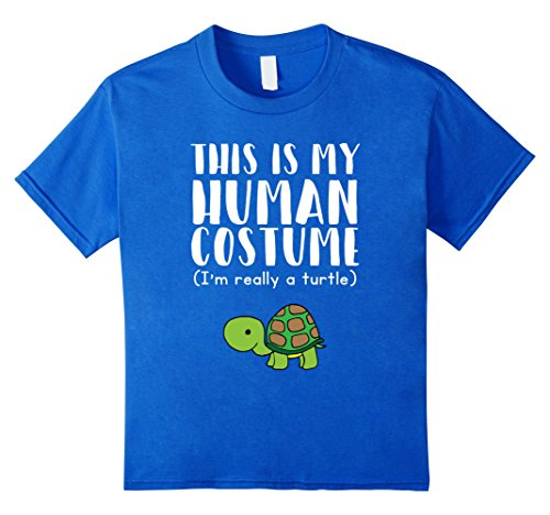 I Like Turtles Costume (Kids This Is My Human Costume I'm Really A Turtle T-Shirt 12 Royal Blue)