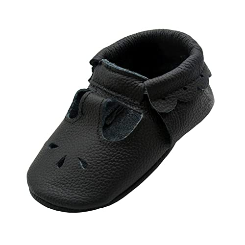 34eeba6ebbc86 iEvolve Baby Leather Shoes Soft First Walker Shoes Crib Shoes Moccasins for  Toddlers