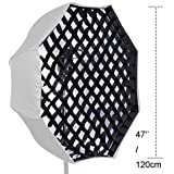 Tyoungg 47'' Lightbox Softbox Beehive Octagon Grid Net