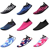 CIOR Mutifunctional Barefoot Shoes Men Women and Kids Quick-Dry Water Shoes Lightweight Aqua Socks For Beach Pool Surf Yoga Exercise ,CT1605,Blue,34.35
