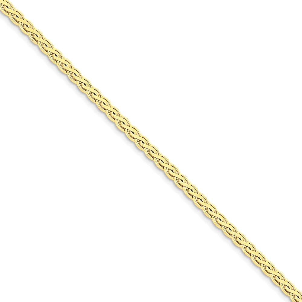 ICE CARATS 14k Yellow Gold 3mm Flat Link Wheat Bracelet Chain 7 Inch Fine Jewelry Ideal Mothers Day Gifts For Mom Women Gift Set From Heart by ICE CARATS (Image #2)