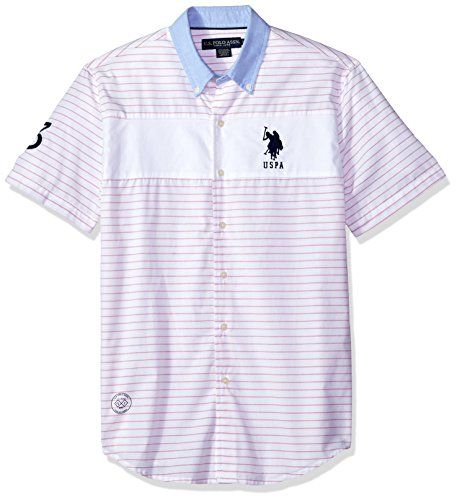 U.S. Polo Assn. Men's Short Sleeve Classic Fit Striped Shirt