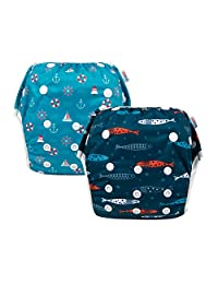 ALVABABY Swim Diapers Reuseable Washable Adjustable 0-2 Years Old 2 Pack One Size YK56-57-CA