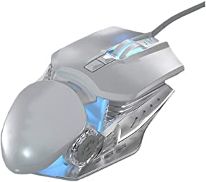 YL Mouse Gaming Deep Sea Shark Wired Mouse Competitive Games League of Legends Jedi Survival Cross Fire USB Desktop Computer Home Laptop Mechanical Metal Aggravated Mouse