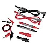 AstroAI Multimeter Electronic Test Leads Kit with Alligator Clips and Plunger Mini Hooks, Probes Upgraded To CAT IV