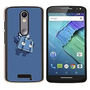 P0kemon- Metal de aluminio y de plástico duro Caja del teléfono - Negro - Motorola Droid Turbo 2 / Moto X Force