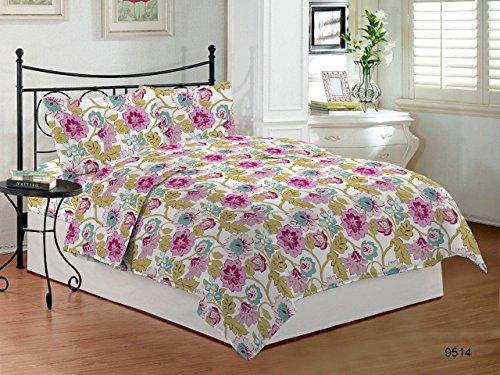 Bombay Dyeing Cynthia Polycotton Double Bedsheet - Pink (Cynthia Storage Bed)