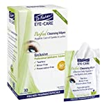 Cleansing Oil Eyes - Dr. Fischer Premium, Purified, Non-Irritating & Hypoallergenic Eyelid Wipes– Pre-moistened for complementary treatment of Red Eye, Dry Eye, and Blepharitis & Conjunctivitis – Cleanses Make-up (30)