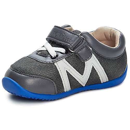 Momo Baby Boys First Walker Toddler Hunter Sneaker Shoes - 5 Grey