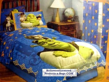 Amazon.com : Shrek 4 Piece Twin Size Bedding Set with ...