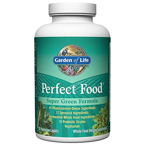 Garden of Life Whole Food Vegetable Supplement - Perfect Food Green Superfood (Veggie Caplets)