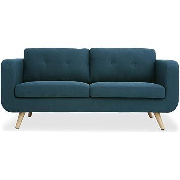 Oxydesign Sofa Azul 2/3 plazas diseño escandinavo - Bori ...