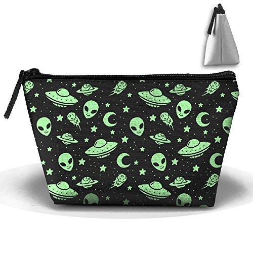(LWI DIW Spacecraft Alien Girl Portable Travel Organizer Humor Make Up)