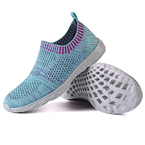 Qansi Mujeres Sneakers Mush Ultra Ligero Tenis Atlético Corriendo Zapatos De Agua Transpirables Zuecos Sandalias Blue1