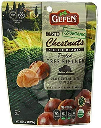 LIMITED EDITION - Gefen Whole Chestnuts, Roasted & Peeled, 5.2-Ounces (Pack of 12) by Gefen