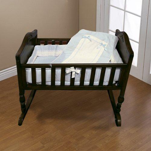 Baby Doll Bedding Royal Pique Mini Crib/Port-a-Crib Bedding Set, Blue