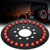 Estink Spare Light,Car Spare Tire 25 LED Light Rear 3rd Third Brake Tail Decor Red Wheel Light Lamp for Jeep Wrangler JK TJ 2007-2016
