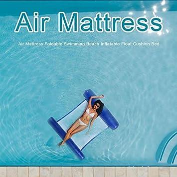 PPH3 Shine Air Mattress Foldable Swimming Pool Water Hammock Inflatable Chair Mattress Beach Lounger Floating Sleeping Bed Chair Hammock Dark Blue