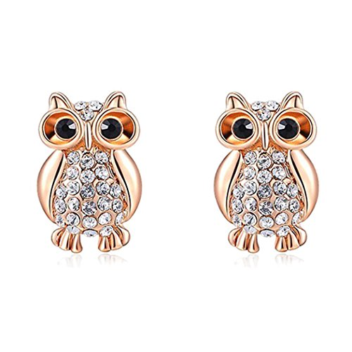 Duo La A Symbol of Wisdom Fashion Cute Owl Stud (Cute Super Mario Bros Halloween)