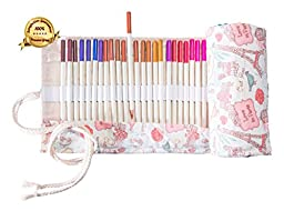 Noble Artist; Premium Colored Pencils, Beautiful Bonus Canvas Carry Case; 72 Count; Art Tools; Perfect for Art Projects and Adult Coloring