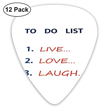 Guitar Picks 12-Pack,To Do List Design With Aspirations To Reach ...