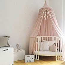 NOPTEG Princess Dome Bed Canopy Children Indoor Playing Cotton Tents for Kids Baby Bed Room Decorations (Pink)