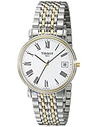 Tissot Men's T52248113 T-Classic Desire Two-Tone White Dial Watch