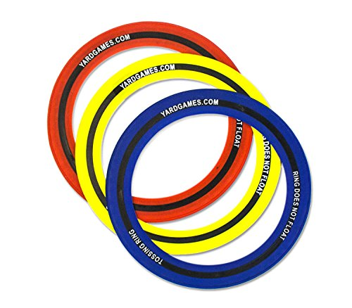 Yard Games 10'' Soft Touch Flying Rings (3-Pack) by Yard Games