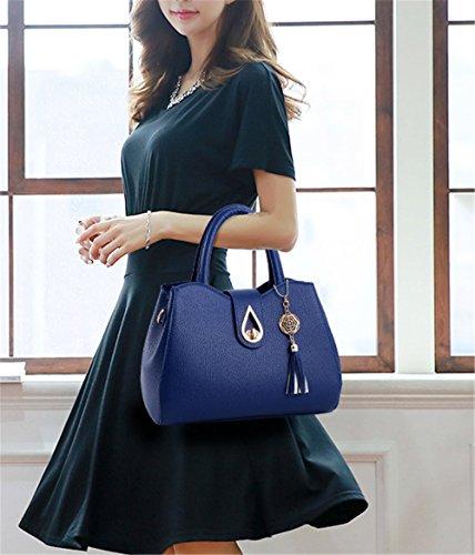 Bolsos de señora Xinmaoyuan Señoras Bolso Bolso de Hombro Paquete de locomotora, negro Blue