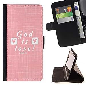Momo Phone Case / Flip Funda de Cuero Case Cover - Aimez Jésus Christ Christian Blanc - HTC One M8