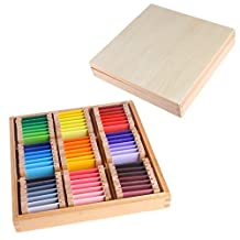 Arich Montessori Sensorial Material Learning Color Tablet Box Wood Preschool Toy 3#