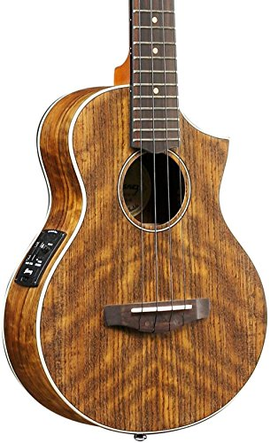 Ibanez UEWT14E Acoustic Electric Tenor Ukulele, Open Pore Natural by Ibanez