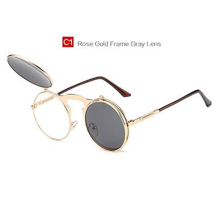 c09791c83ec7 Round Metal Frames Steampunk Female Male Sun Glasses Women Men Vontage Eyewear  UV400 Retro Steam Punk