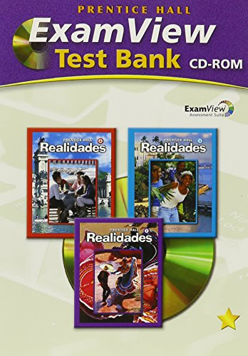 Prentice Hall Realidades (A/b-1) Examview Test Bank CD-ROM