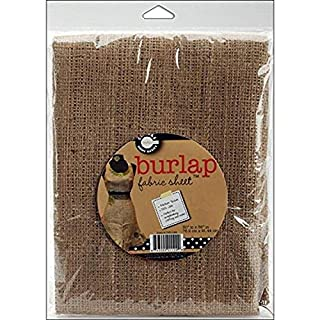 Canvas Corp Burlap Packaged Fabric, 30-Inch by 36-Inch, 1-Pack