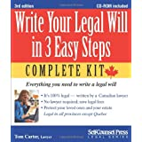 Write Your Legal Will in 3 Easy Steps - CAN: Everything you need to write a legal will