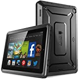 Fire HD 7 Case, SUPCASE [Heavy Duty] Amazon Fire HD 7 Case (4th Generation) 2014 Release [Unicorn Beetle PRO Series] Full-body Rugged Hybrid Protective Case Cover with Built-in Screen Protector for Amazon Fire HD 7 (4th Generation), Black/Black - Dual Layer Design + Impact Resistant Bumper